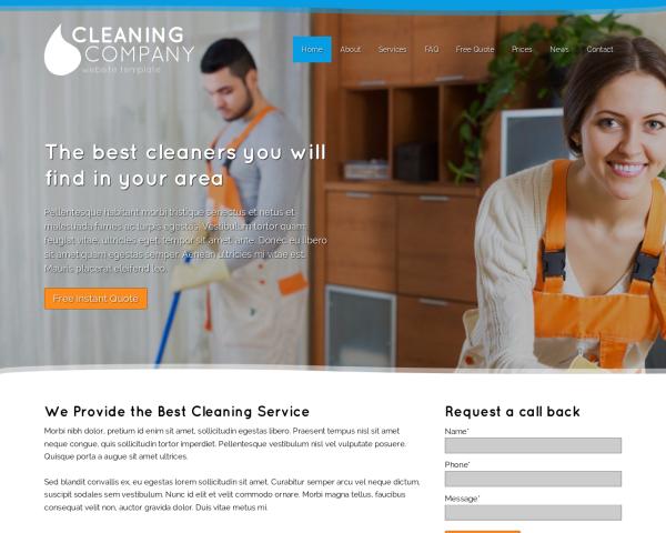 Reinigungsfirma Webdesign Vorlagen