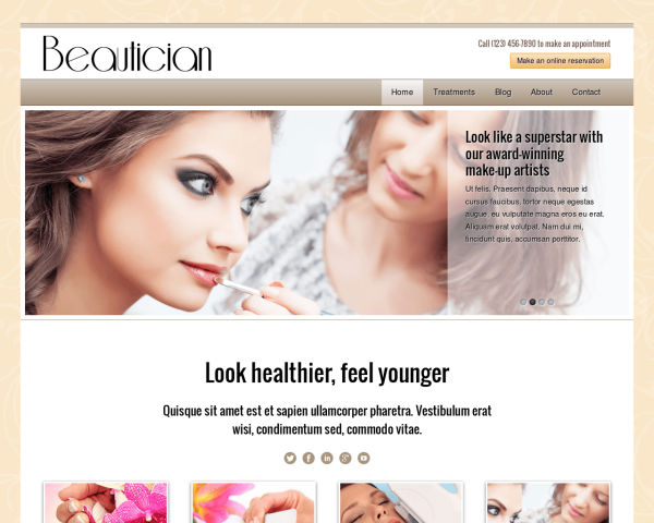 beautician_1280x1024_macbook Webdesign Vorlagen