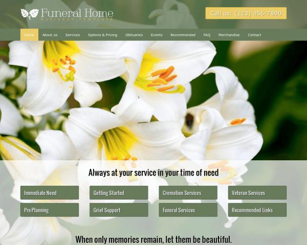 bestattungsinstitut-webdesign1 Webdesign Vorlagen
