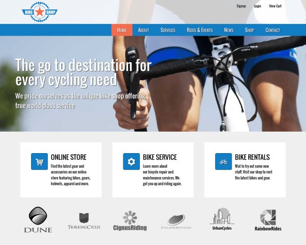 bikeshop_1280x1024_macbook Webdesign Luzern