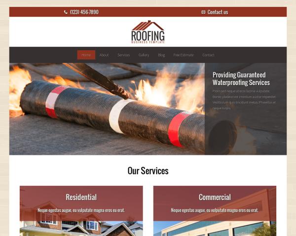 dachdecker-webdesign Webdesign Vorlagen