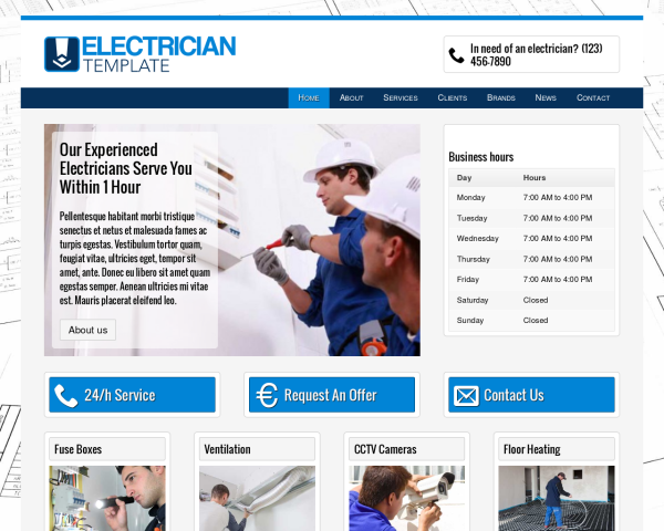 electrician_1280x1024_macbook Webdesign Vorlagen
