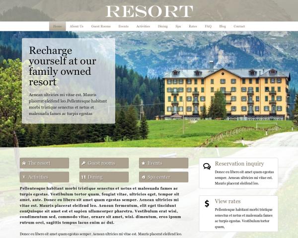 hotel-webdesign1 Webdesign Vorlagen
