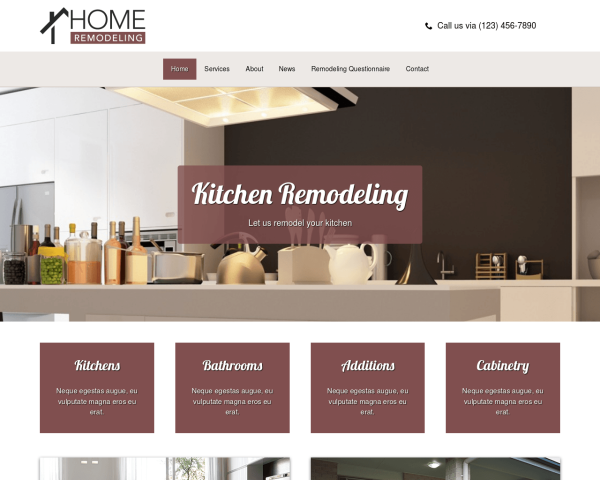 kuechenbau-webdesign1 Webdesign Vorlagen