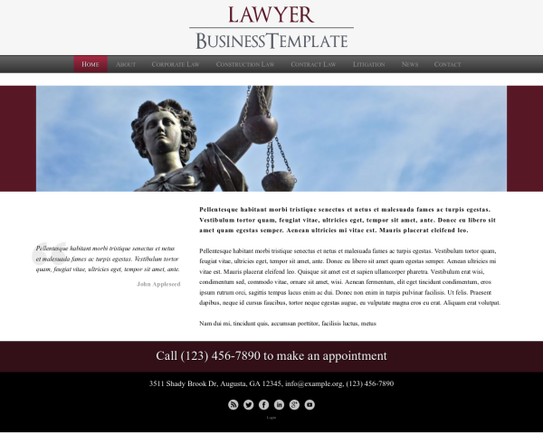 lawyer_1280x1024_macbook Webdesign Vorlagen