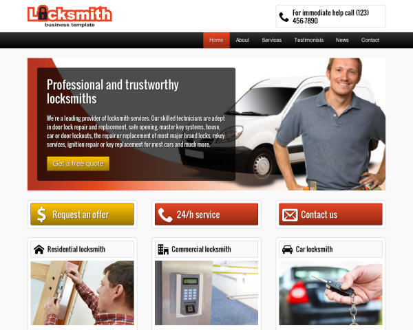 locksmith_1280x1024_macbook Webdesign Vorlagen
