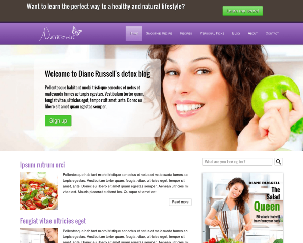 nutritionist_1280x1024_macbook Webdesign Vorlagen