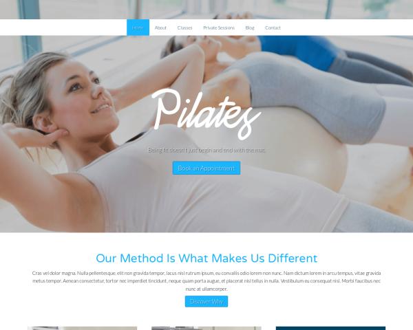 pilates-webdesign1 Webdesign Vorlagen