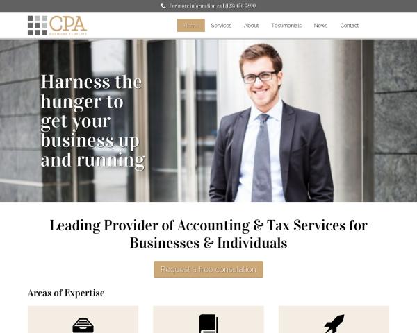 steuerberatung-webdesign1 Webdesign Vorlagen