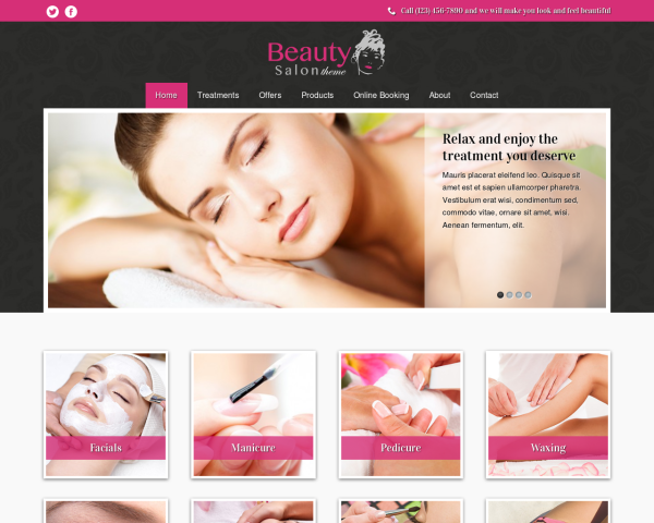 beautysalon1 Webdesign Vorlagen