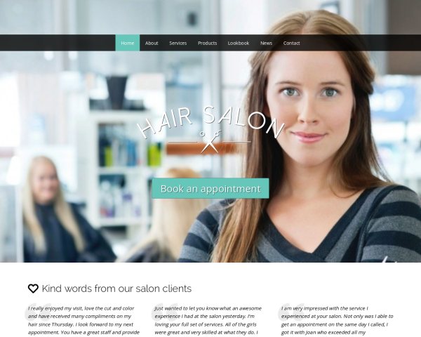hairstudio1 Webdesign Vorlagen