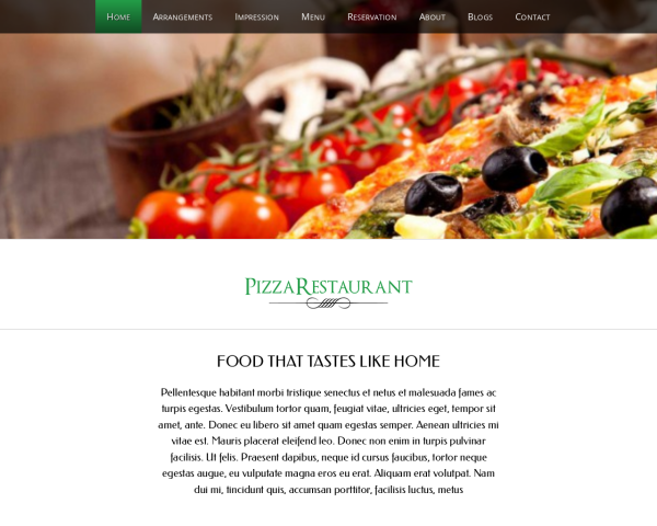pizzeria1 Webdesign Vorlagen