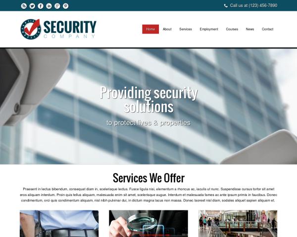 sicherheitsdienst1 Webdesign Vorlagen