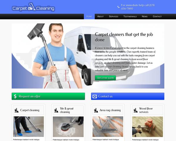 teppichreinigung1 Webdesign Vorlagen